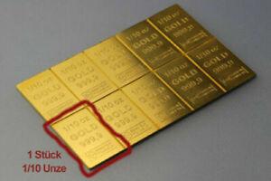 1/10 Oz UNZE ESG Goldbarren 999,9 CombiBar - 3,1g - 3,1 - Gold Barren - 61,00€/g