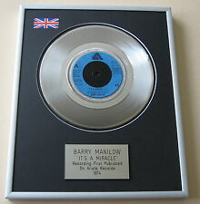 BARRY MANILOW It's A Miracle PLATINUM SINGLE DISC PRESENTATION
