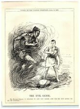 1922 Michael Collins Lets Out Evil Genie IRA Irish Nationalism Punch Cartoon 13P
