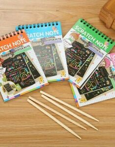 DIY Scratch Book Rainbow 10 Pages / PARTY BAG FILLER!
