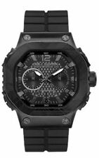 Marc Ecko THE TRACTOR Black Silicone Mens Watch E17503G1 NEW! Low Inter Shipping