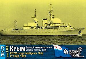 COMBRIG MODELS 70372 KRYM LARGE INTELLIGENCE SHIP 1969 SCALE MODEL KIT 1/700