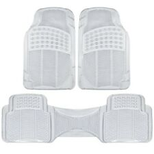 (3pc) Clear All Weather Floor Mats Front & Rear Universal New Free Shipping USA