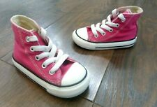INFANT CONVERSE ALL STAR PINK CANVAS HIGH TOP TRAINERS UK 5 / EUR 21