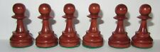 Wooden Staunton Pattern Brown Pawn chess piece for spare