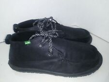 Sanuk Black Canvas Ankle Boots Chukka Mens Size 13 Laces