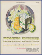 Vintage 1931 WESSON OIL For French Dressing Kitchen Art Decor Print Ad 30's