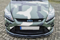 Splitter For Ford Focus 2 DA3 RS Front Bumper Lip Cup Skirt Lower Chin Valance
