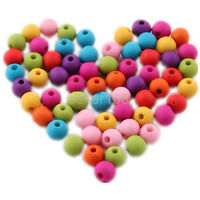 400 pcs 6mm mixed color acrylic Matte beads spacer findings charms Free ship