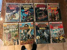 WEIRD WAR TALES 3 4 5 8 10 13 TO 28 ARMY AT WAR MEN AT WAR 1 2 VG TO VFNM KUBERT
