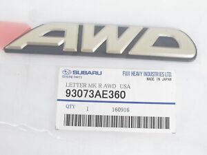 """Genuine OEM Subaru 93073AE360 """"AWD"""" Rear Nameplate Badge 00-03 Legacy & Outback"""