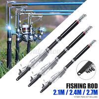 Telescopic Automatic Fishing Rod Sea River Lake Spinning Pole 2.1m 2.4m 2.7