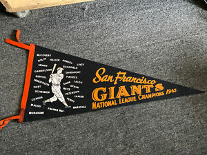San Francisco Giants National League Champions 1965 Phantom Pennant Nice Lot L