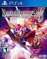 Samurai Warriors 4-II (Sony PlayStation 4, 2015) BRAND NEW FACTORY SEALED