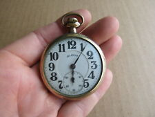 Vintage Illinois Bunn Special 21J 6 Position Adj Pocket Watch Railroad Grade