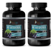Organic Resveratrol Powder 1200mg Anti-Aging Antioxidant 120 Pills 2B