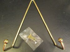 """Brass-Plated Plate Hanger, Fits Plates 8"""" to 12"""", Andrea by Sadek, NIP"""