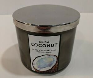 Bath & Body Works Toasted Coconut Vanilla Caramel Scented 3 Wick Candle BBW