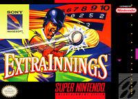 Extra Innings For Super Nintendo SNES Baseball Game Only 1E
