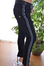 LEXXURY Baggy Boyfriend Jeans Hose schwarz Big 44 Seitenstreifen Italy Style Neu