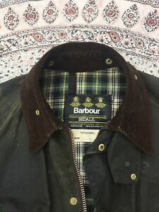 """BARBOUR - Dark Olive - Waxed Cotton - BEDALE - Jacket - 42"""""""