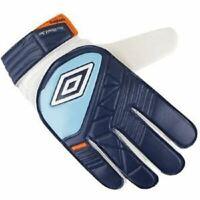 Umbro Neo Shield Blue White Training Football Goal Keeper Gloves Junior Size 6