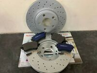 Mercedes A-CLASS W176 2012- Front DRILLED Brake Disc Pads **AMG SPORT PACKAGE**