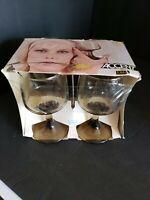 4 Vintage MCM Libbey Accent wine water goblet glasses NIB!