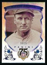 2014 Panini Hall of Fame WALTER JOHNSON Blue Frame Blue /25 *Senators* NRMT-MT+