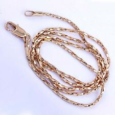 "18.5"" Womens Rose Gold Plated Lucky Rope necklace snake chain for Pendant"