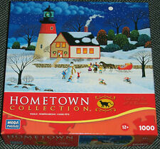 1000 Piece Hometown Puzzle~At The Light Before Christmas~New
