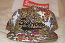 Supreme Paisley 5 Panel Hat, New FW 2017, Authentic
