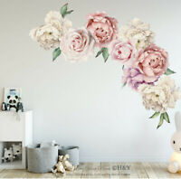 Peony Flowers Wall Sticker Art Nursery Decals Kids Room Home Decor Mural Gift