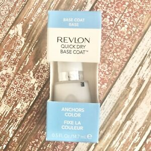 Revlon Quick Dry Base Nail Top Coat Anchor Color White Smooth 0.5oz NEW