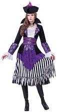 Ladies 4 Piece Pirate Queen Buccaneer Halloween Fancy Dress Costume Outfit 10-14