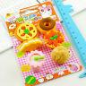 Cute Cartoon Food Rubber Pencil Eraser Set Stationery Novelty Gift Toy 8Pcs/Kit