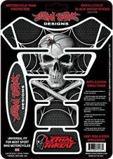 Lethal THREAT Moto Bicicleta Tanque Pad Protector Araña viuda negra LT70137