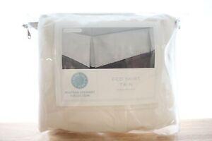 Martha Stewart Twin Bedskirt Pique Cotton Cream E92004
