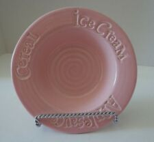 """Wordware Child's Portugal Cereal Ice Cream Applesauce Dish Bowl Pink 6"""""""