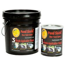 Pond Armor Pond Shield Non-Toxic Epoxy Pond Liner & Sealer 3 Gallons Black Color
