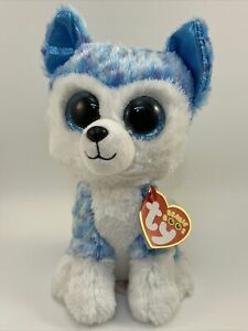 """Ty Beanie Boo - SKYLAR the Husky Dog 6"""" (Justice Exclusive) MINT with MINT TAGS"""