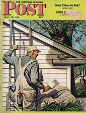 1945 Saturday Evening Post May 12 - Iwo Jima;Schwab's Pharmacy-Hollywood;Dane WI