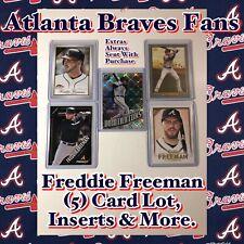 New listing Atlanta Braves  Freddie Freeman (5) Card Lot, Inserts & More.