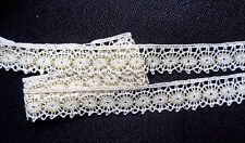 Cluny Lace, 3/4 inch wide Natural - Gold price for 2 yard