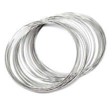 200 LOOPS SILVER TONE BRACELET MEMORY WIRE 80-85mm~Beading~Jewellery (Z2) UK