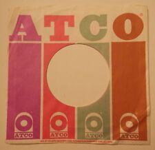 "ATCO RECORDS 7"" 45 RPM Original Record Company Sleeve ~ USED ~"