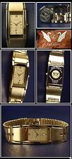 Beautiful & Nice Cavadini Watch Unisex IP Gold Plated Elegance Sapphire Coated