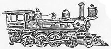 Unmounted Rubber Stamp, Fathers Day, Stamps for Men, Trains, Steam Engine, Train