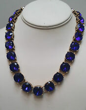 NWT J Crew Navy Crystal Necklace
