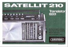Grundig manuale per satellite 210 transistor 6001